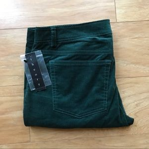 THEORY Deep Green Corduroy Pants Size 6 $225 MSRP